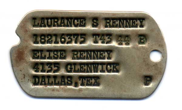 ww2 dog tags set